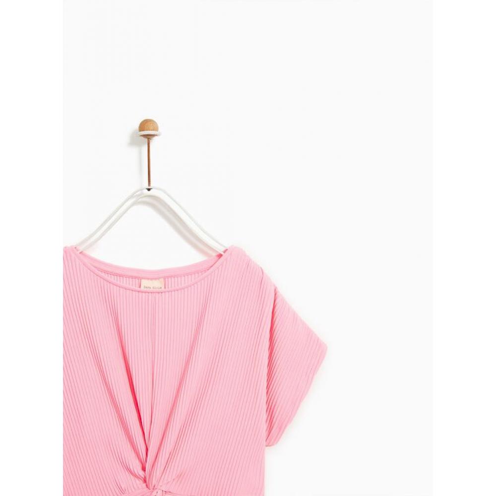 Zara Pleated Shirt With Knots