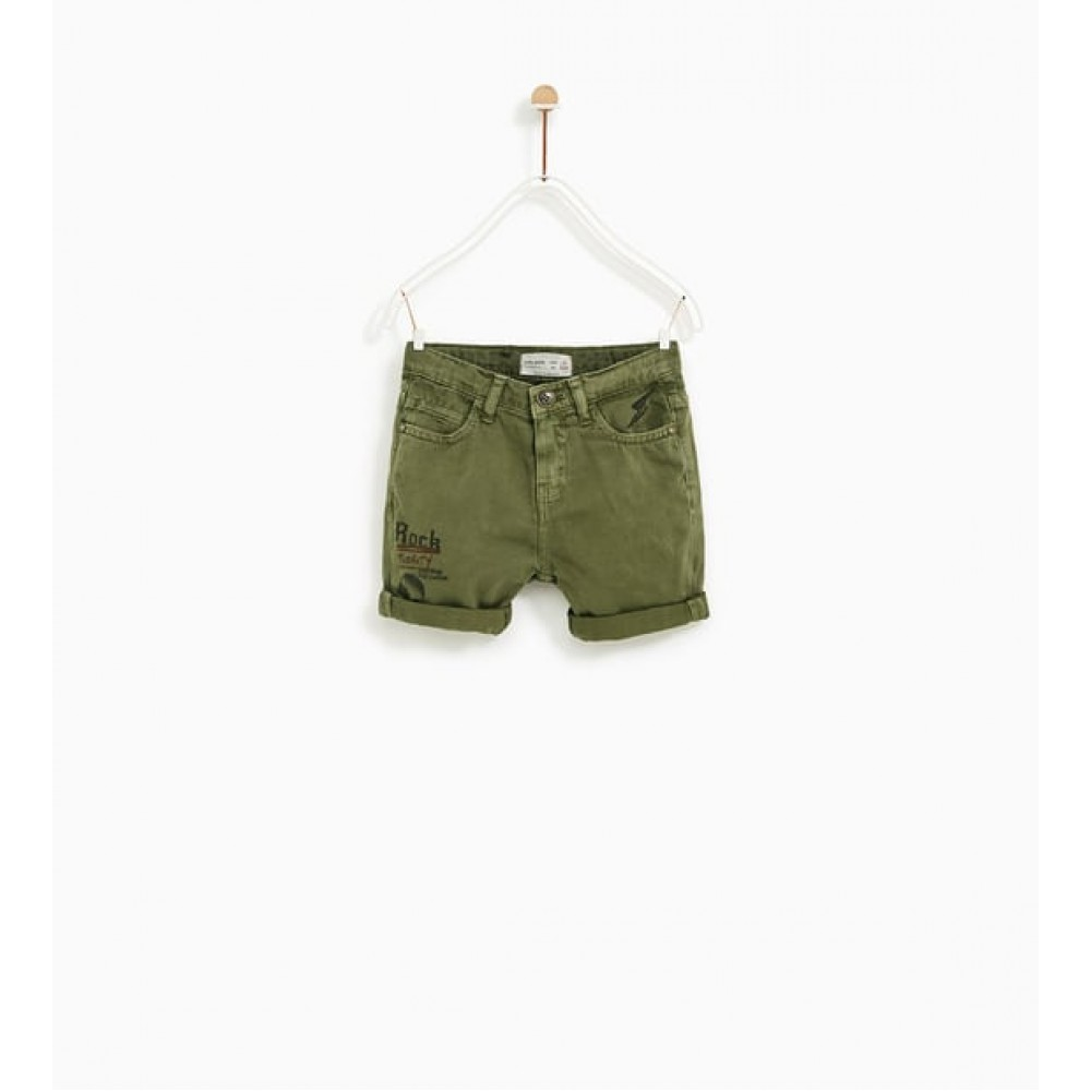 Zara 'Rock' Prints Bermuda Shorts