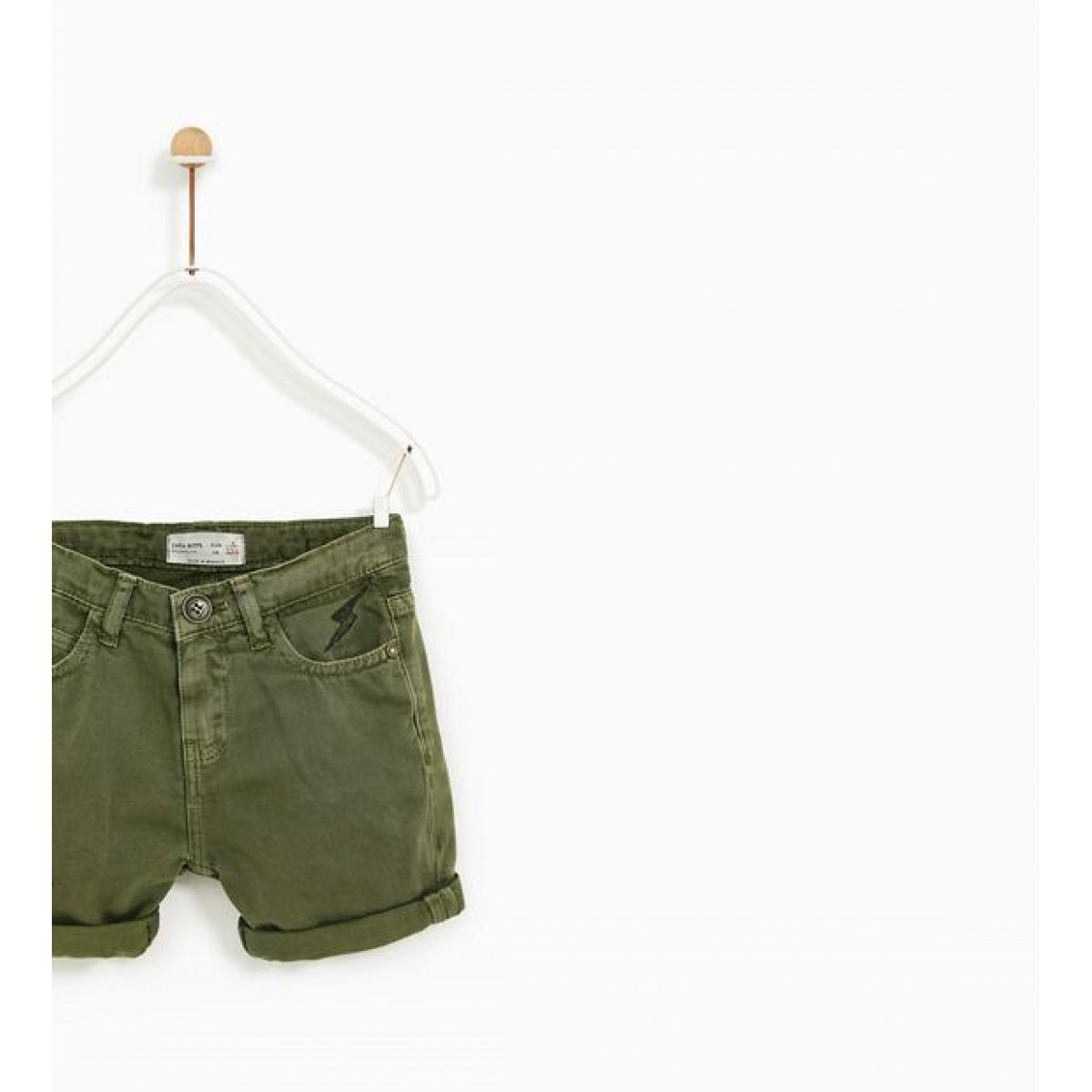 Zara 'Rock' Prints Bermuda Shorts