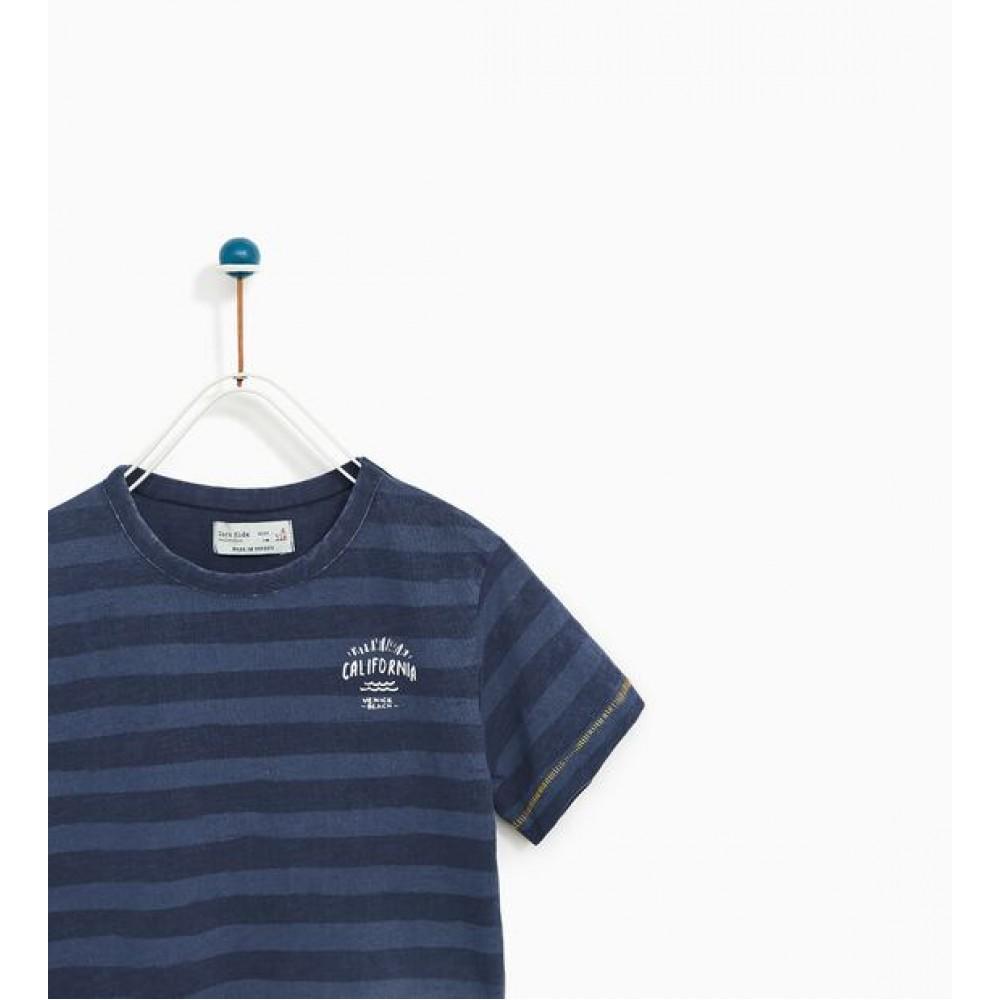 Zara Striped T-Shirt With Text