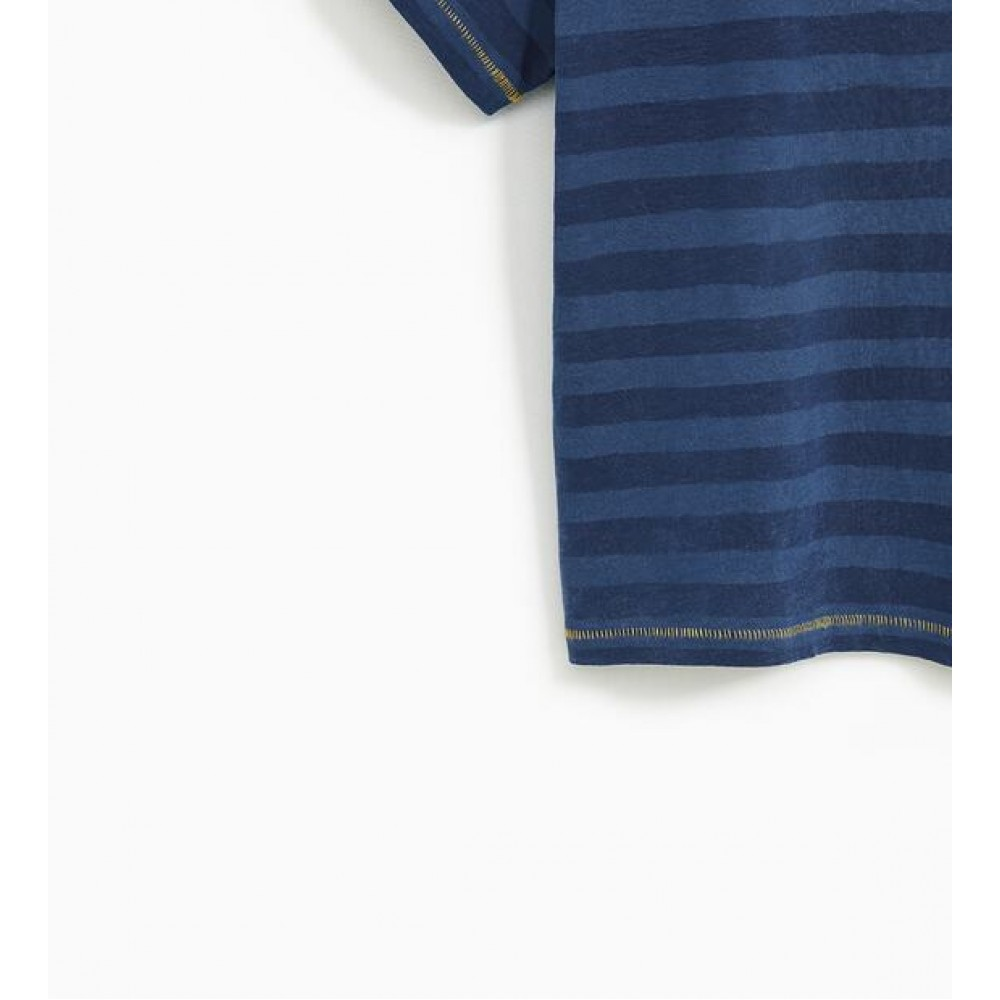 Zara Striped T-Shirt With Text