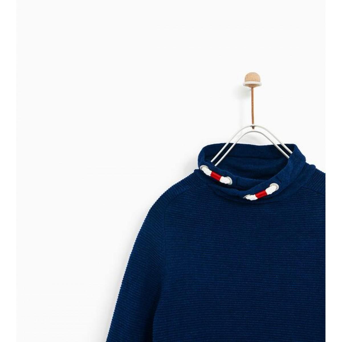 Zara Sweater With Wraparound Turtleneck