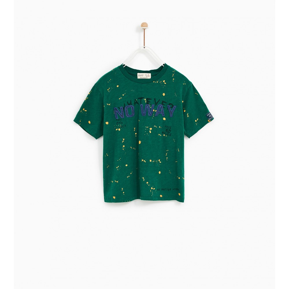 Zara Spotted T-Shirt With Patch