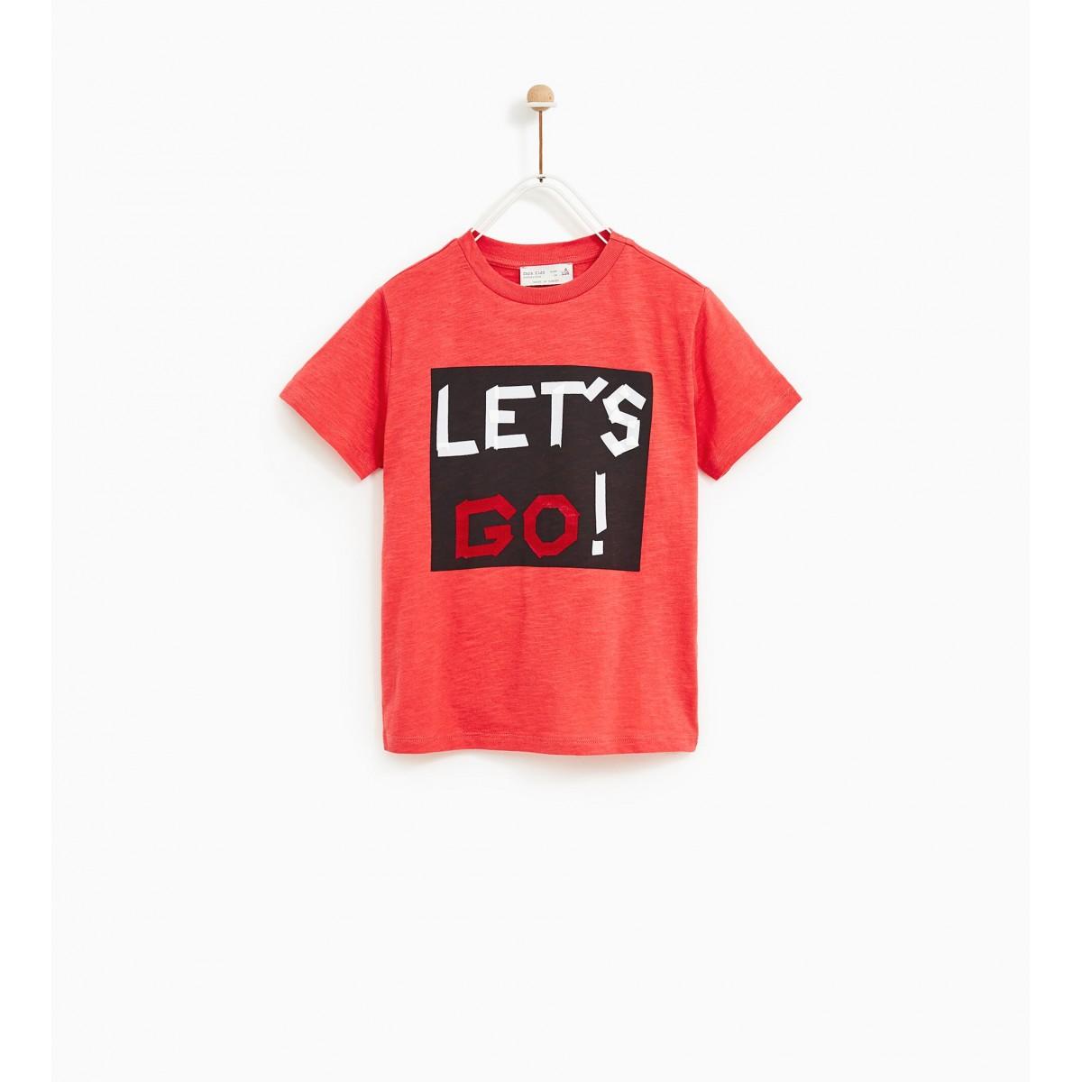 Zara 'Let's Go' Print T-Shirt
