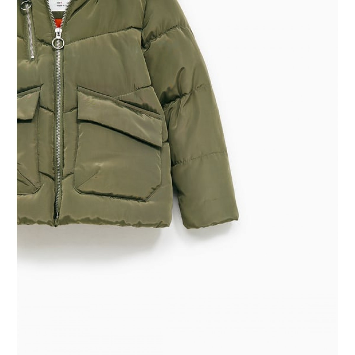 Zara Puffer Jacket With Hood