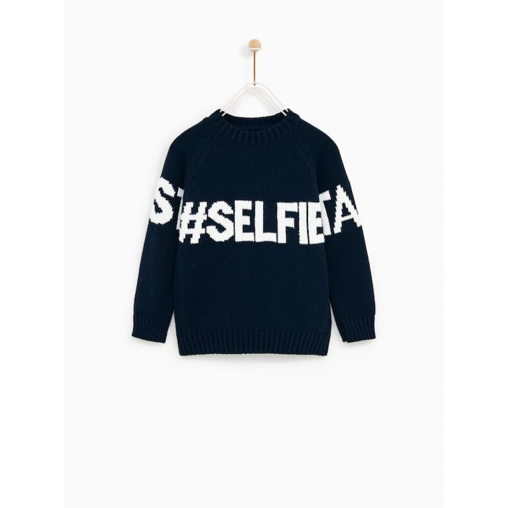 Zara Take Your Best Selfie Sweater