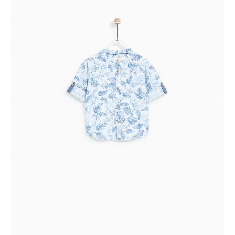 Zara Leaf Print Shirt