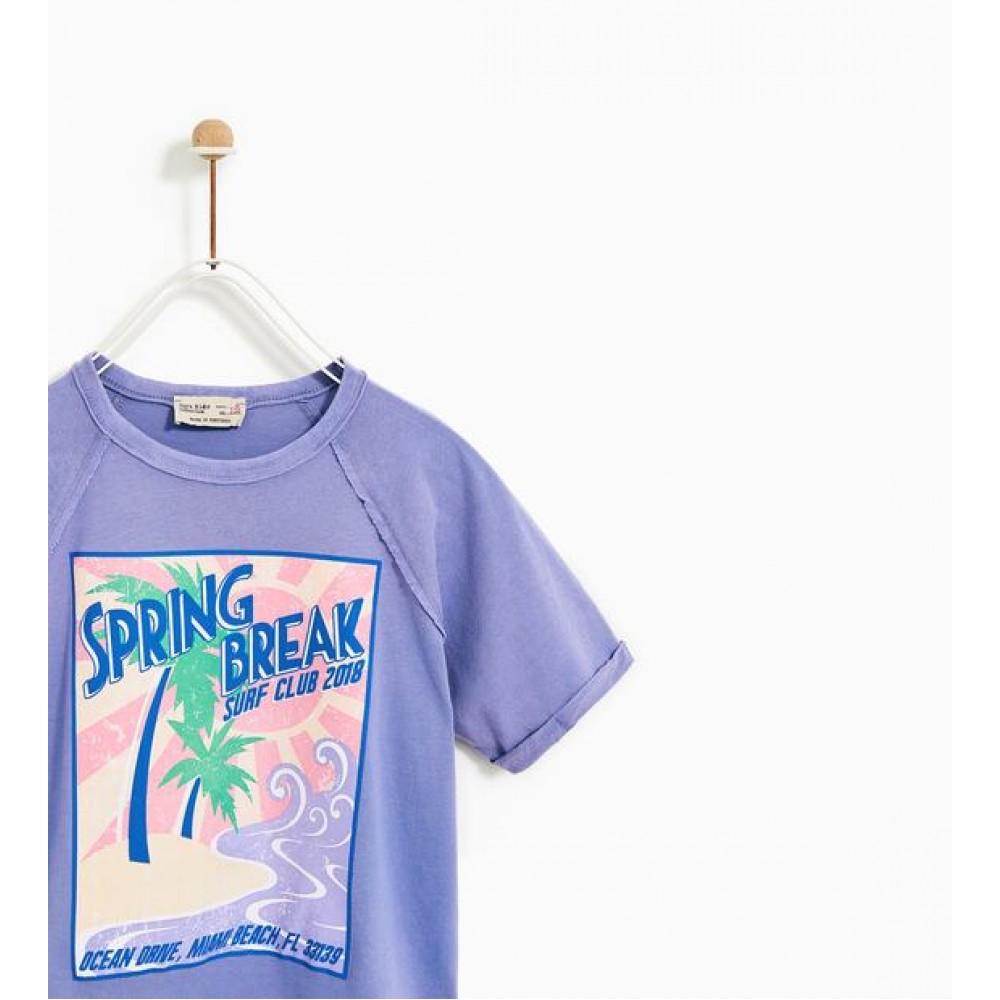 Zara Surf Print T-Shirt