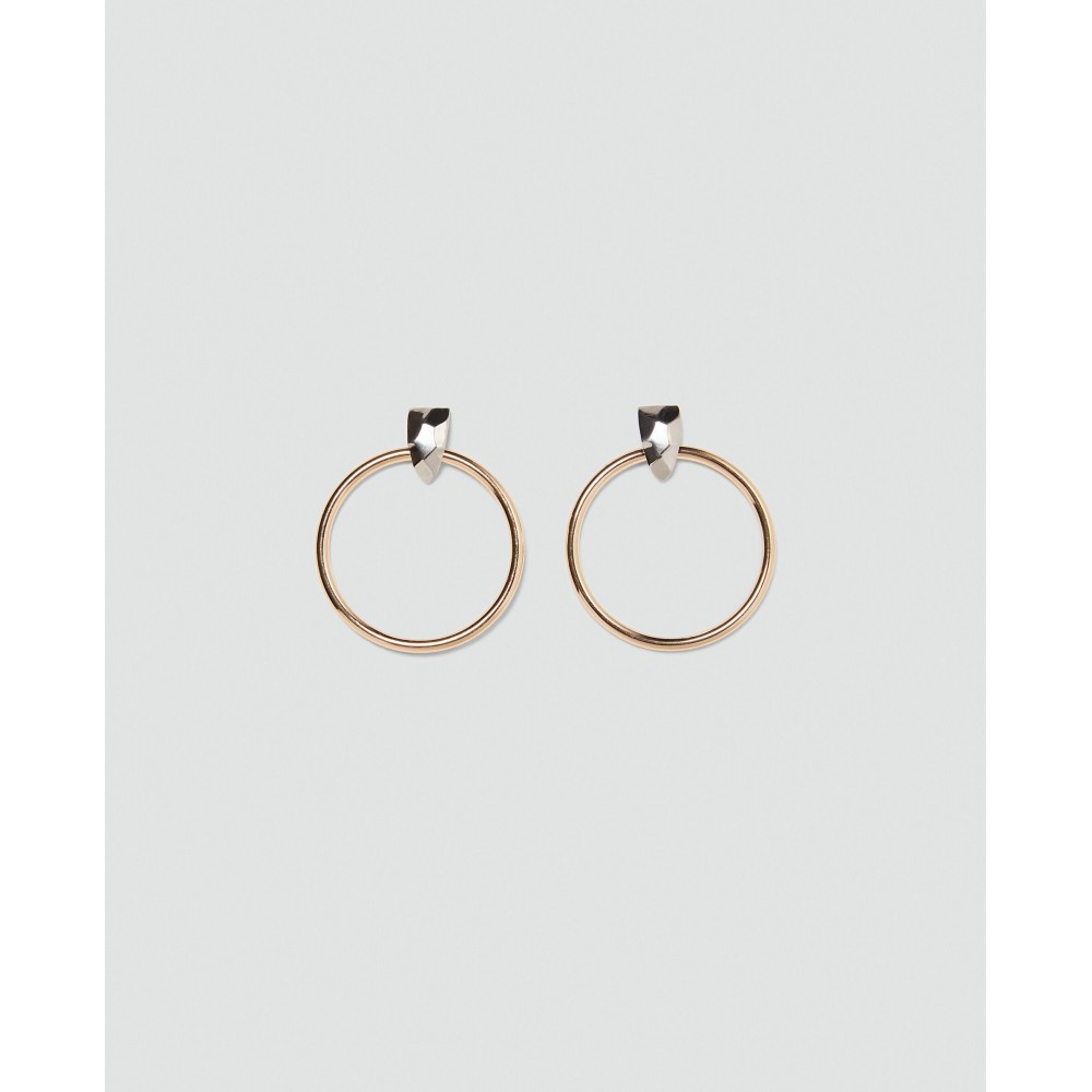 Zara Hoop Earrings With Contrasting Detail