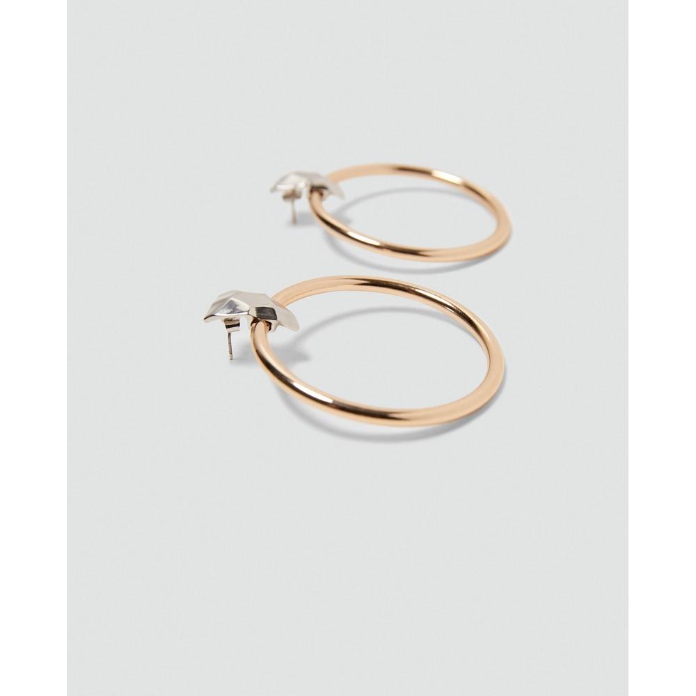 Zara Hoop Earrings With Contrasting Detail