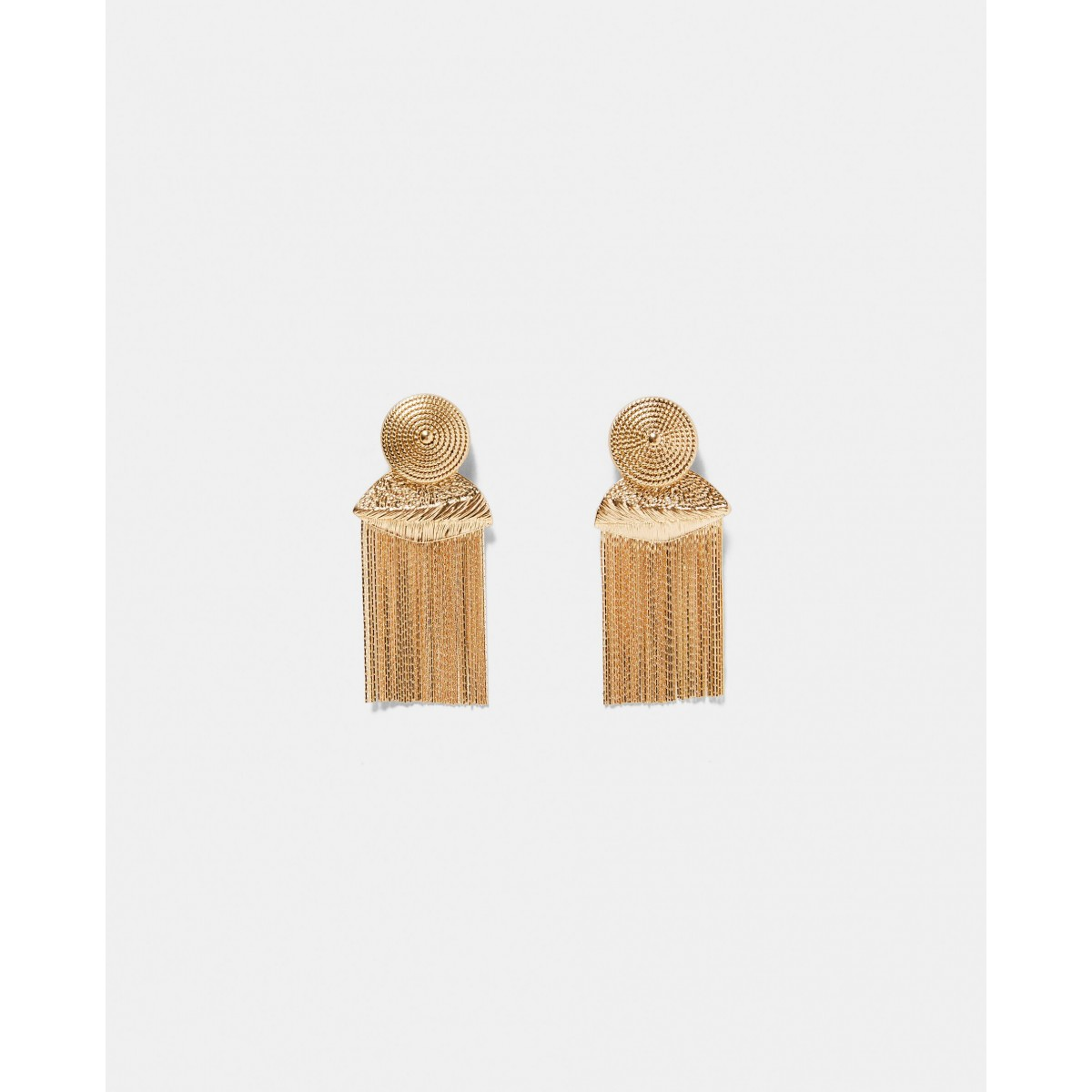 Zara Earrings With Chain Fringing