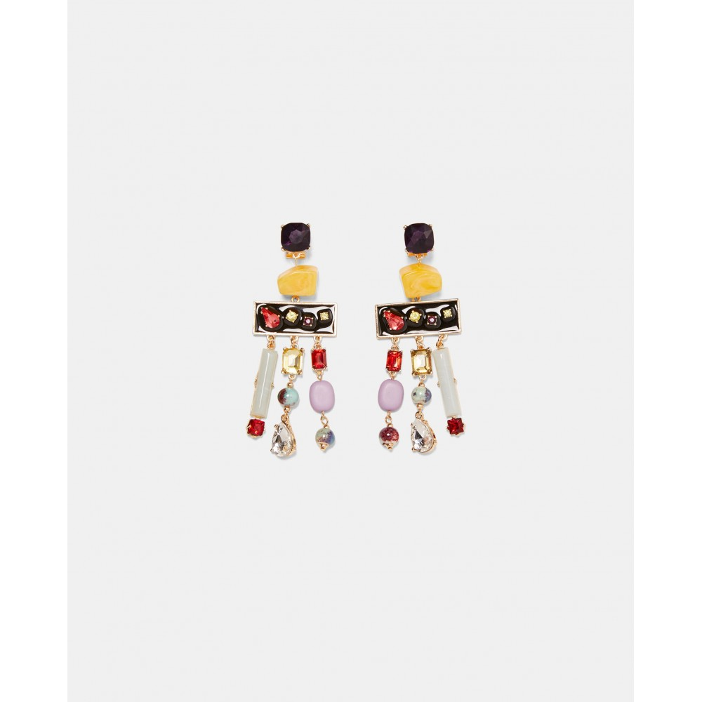 Zara Geometric Dangle Earrings