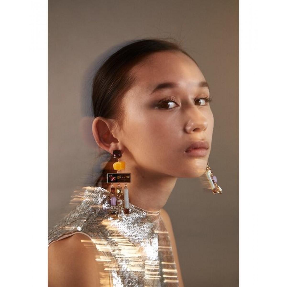 Zara Geometric Dangle Earrings
