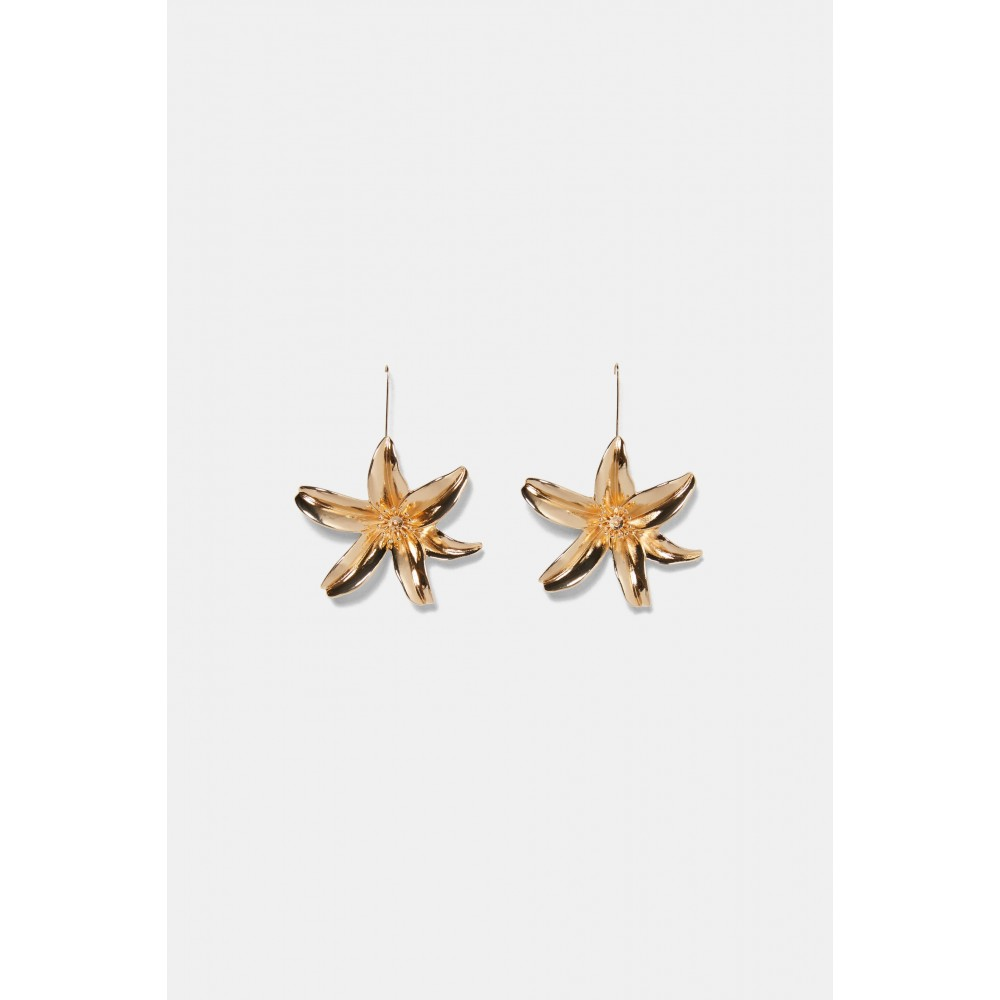 Zara Metal Flower Earrings