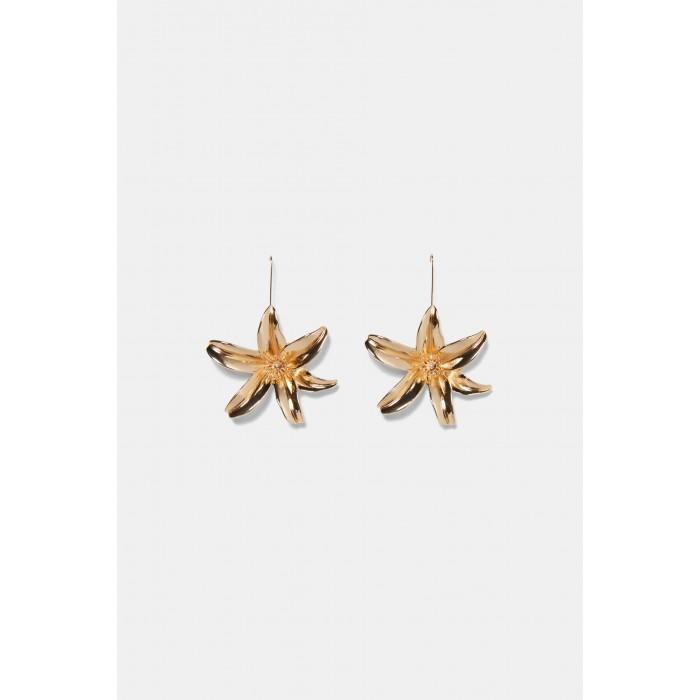 Zara Metal Flower Earrings