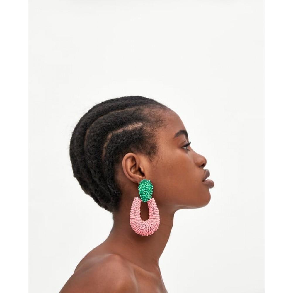 Zara Two Tone Hoop Style Earrings
