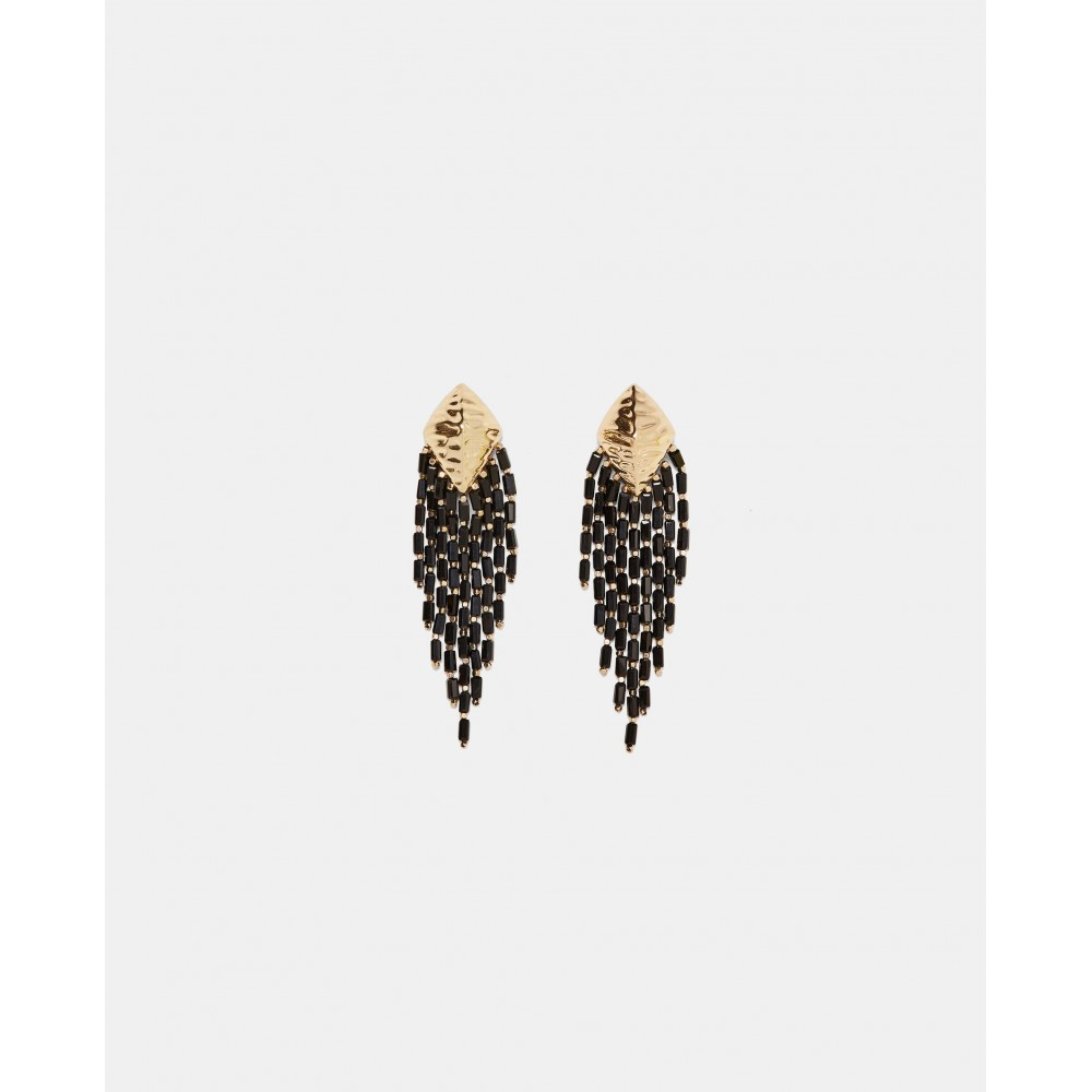 Zara Fringed Metal Earrings