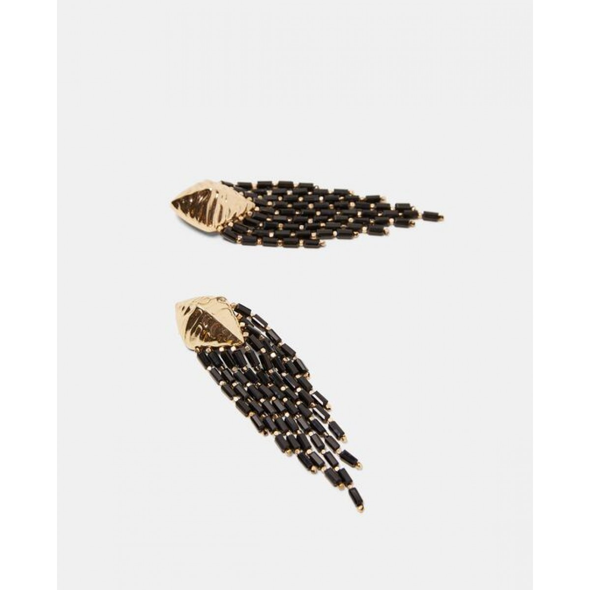 Zara Fringed Metal Earrings