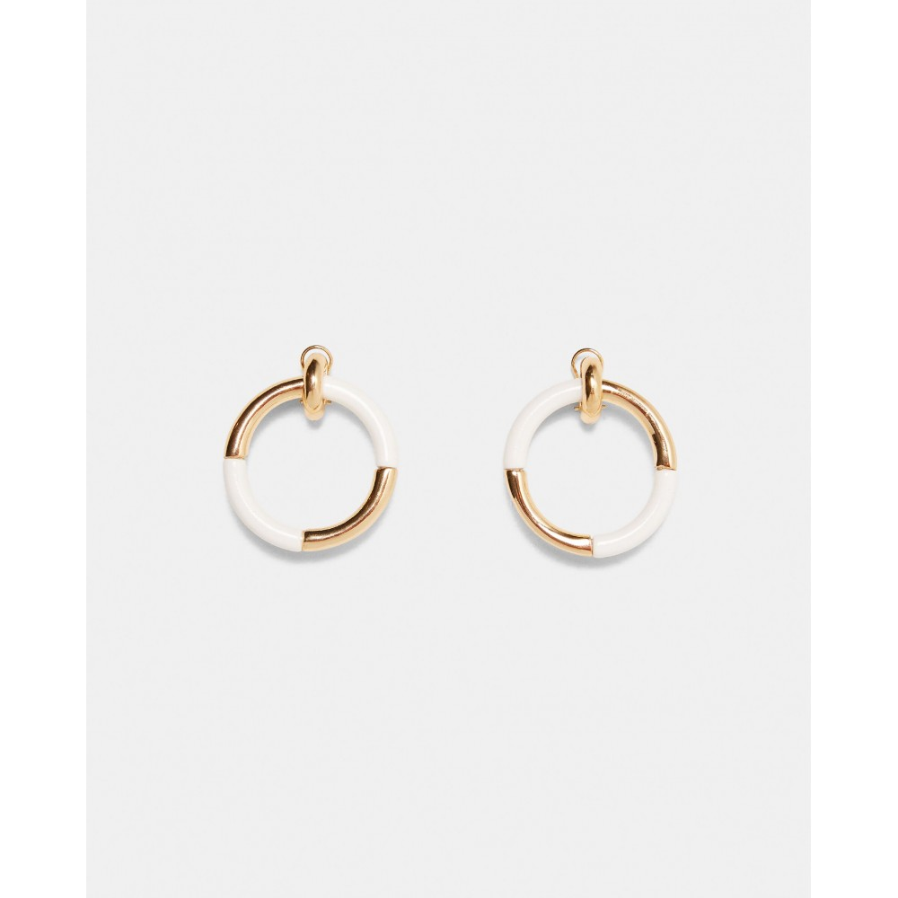Zara Contrasting Hoop Earrings