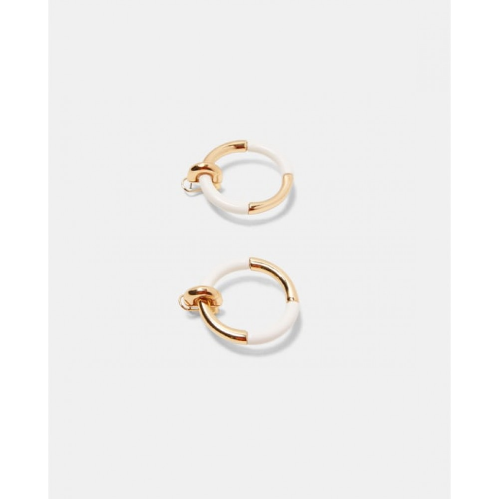 Zara Contrasting Hoop Earrings