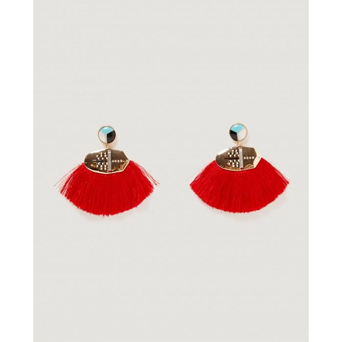 Zara Frontal Hoop Earrings With Rhinestones