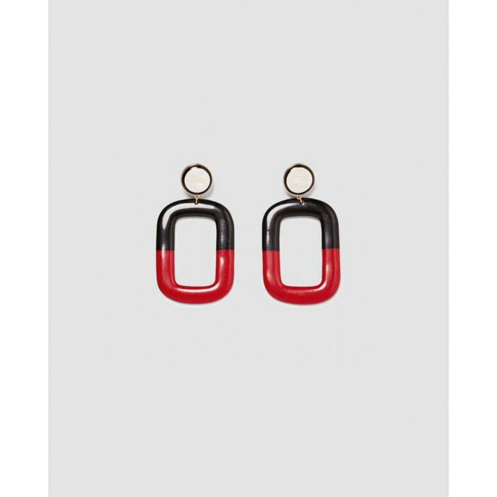 Zara Square Dangle Earrings