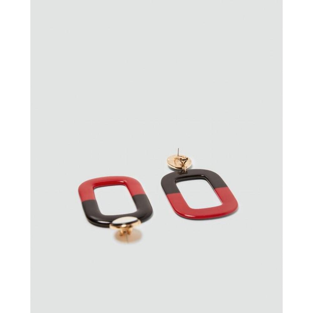 Zara Square Dangle Earrings