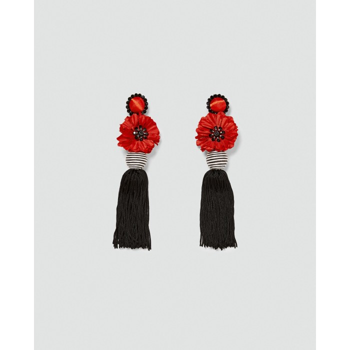 Zara Fringed Flower Earrings