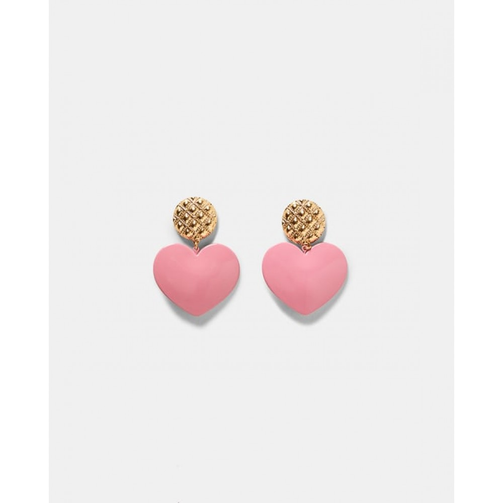 Zara Pink Heart Earrings