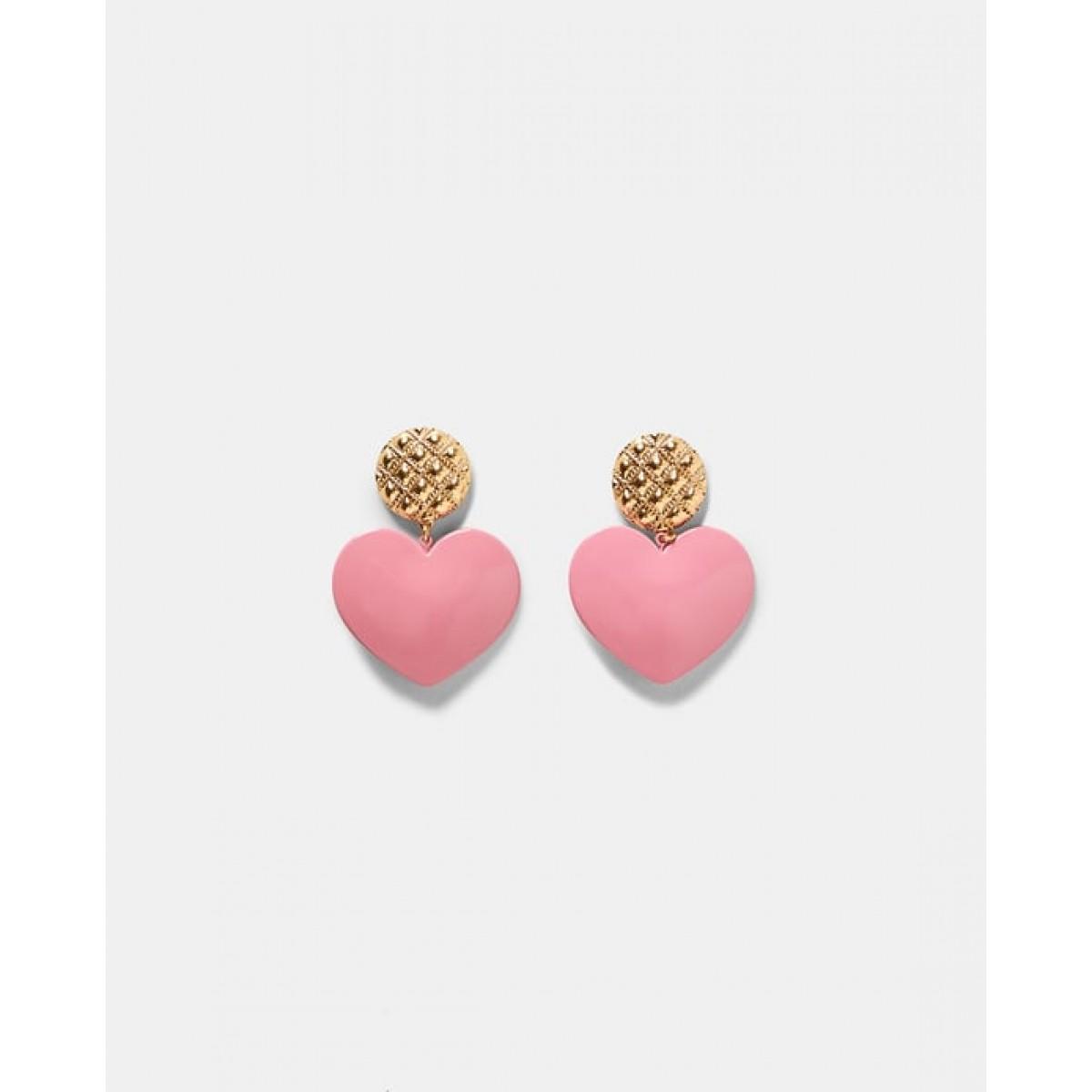 Zara Pink Heart Earrings