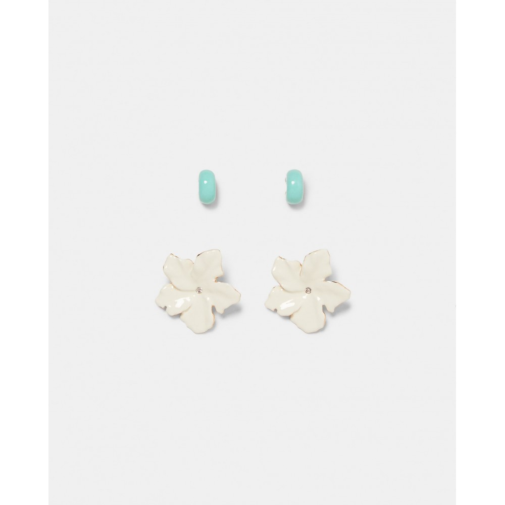 Zara Pack Of Flower And Hoops