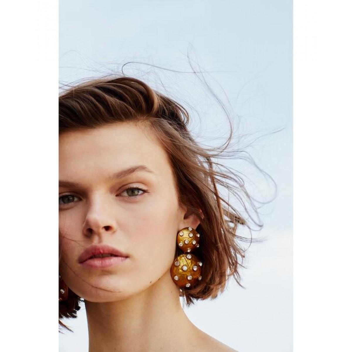 Zara Bejewelled Metallic Earrings