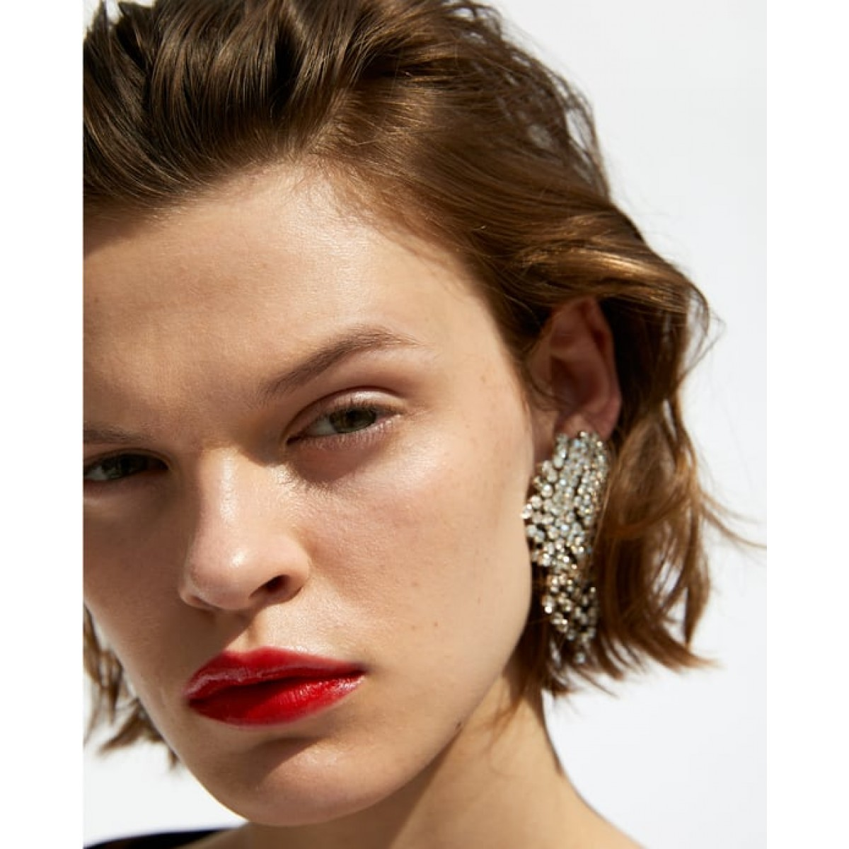 Zara Diamante Earrings With Tassels