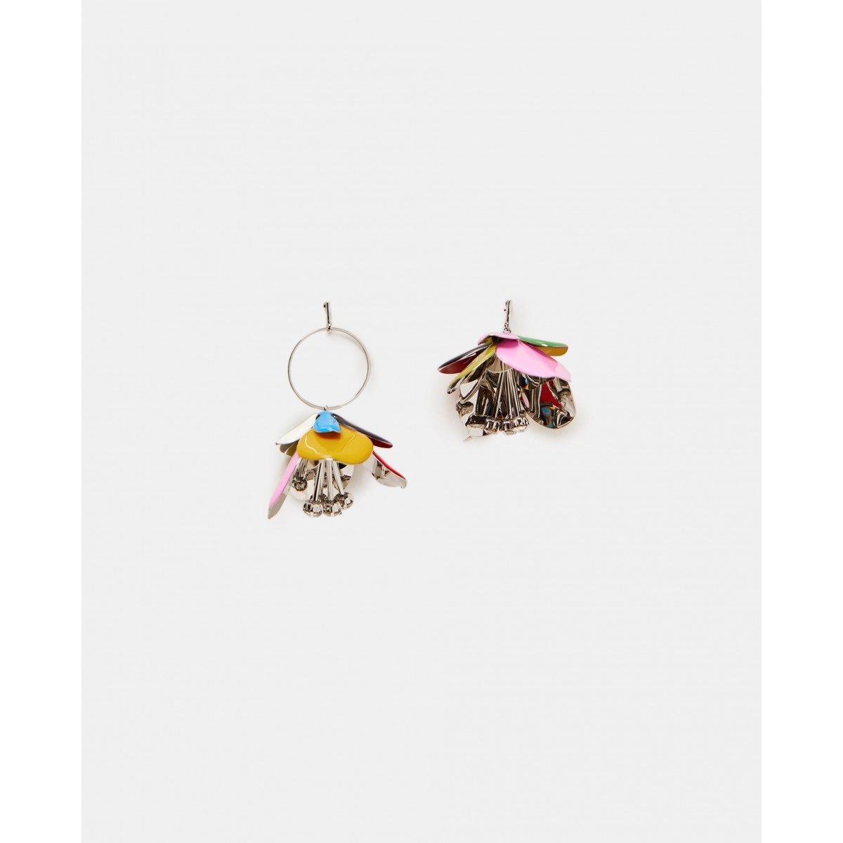 Zara Metallic Leaf Earrings