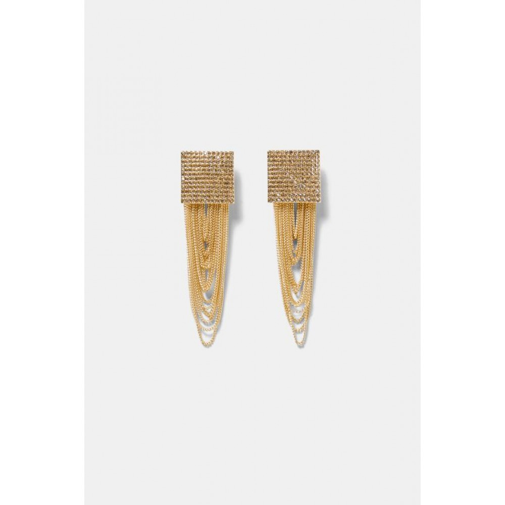 Zara Shiny Chain Earrings