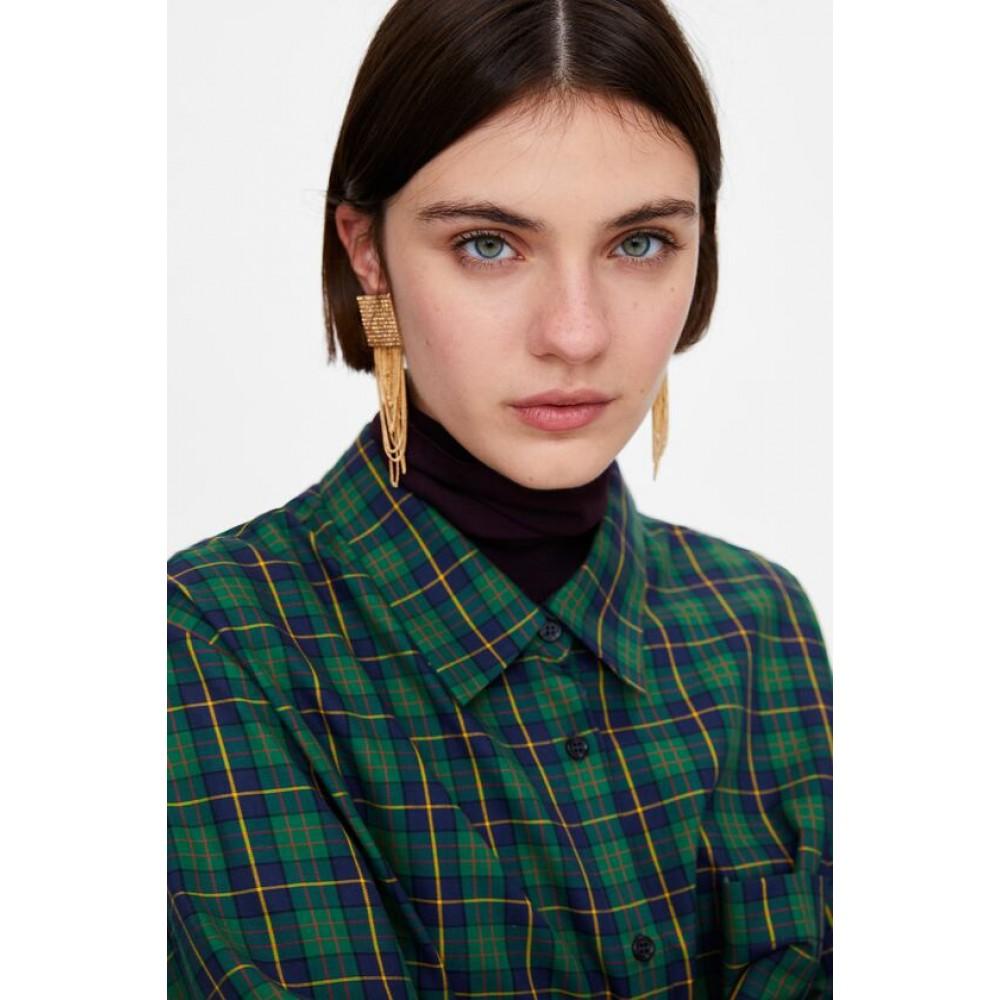 Zara Shiny Chain Earrings