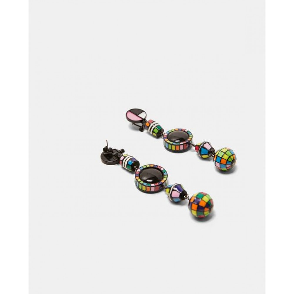 Zara Multicoloured Dangle Earrings