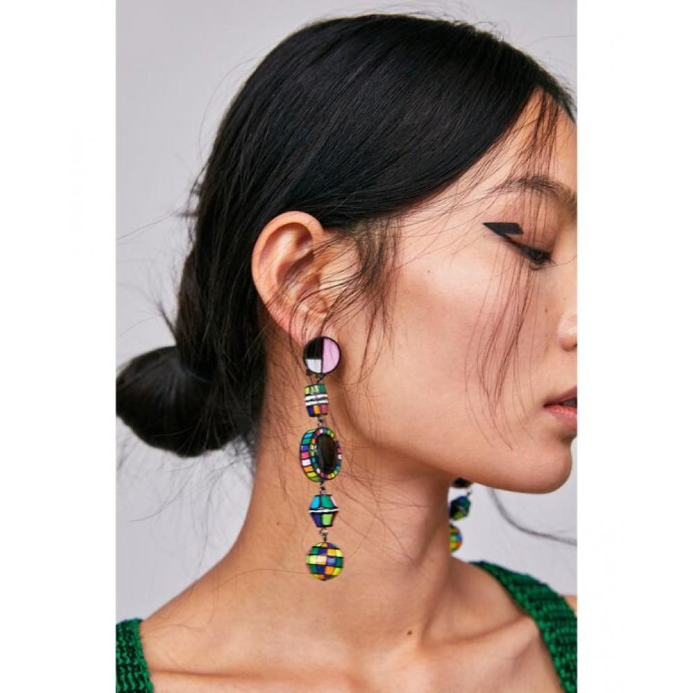 Zara Multicoloured Dangle Earrings