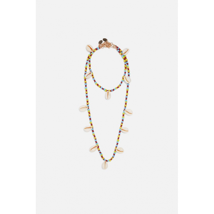Zara Pack Of Seashell Necklace And Anklet