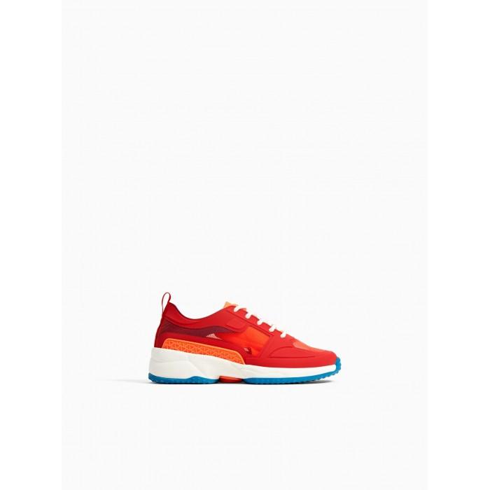 Zara Contrasting Red Sneakers