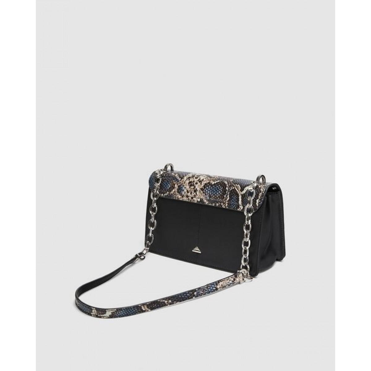 Zara Leather Crossbody Bag With Eyelets
