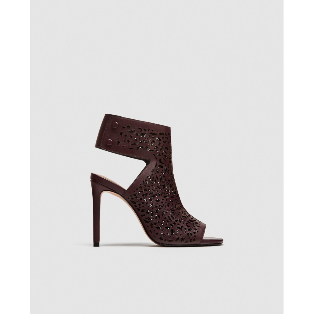 Zara Laser Cut Leather Sandals