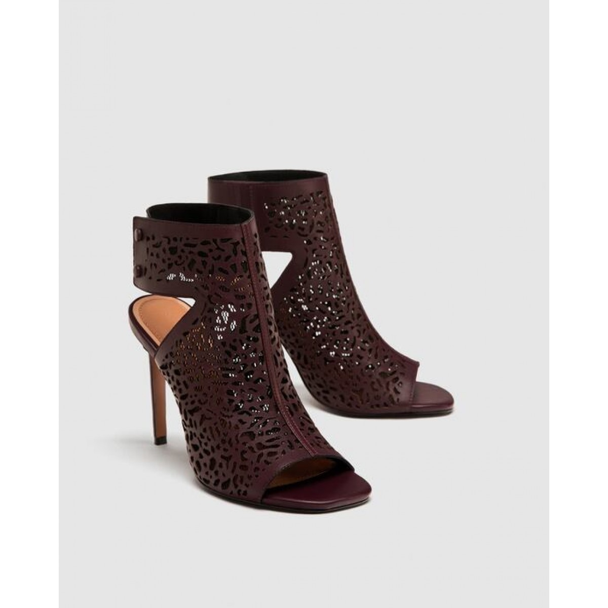 Zara Laser Cut Leather Sandals