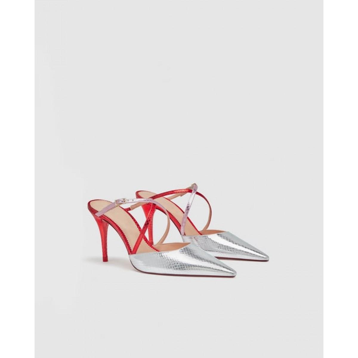 Zara Strappy Court Shoes