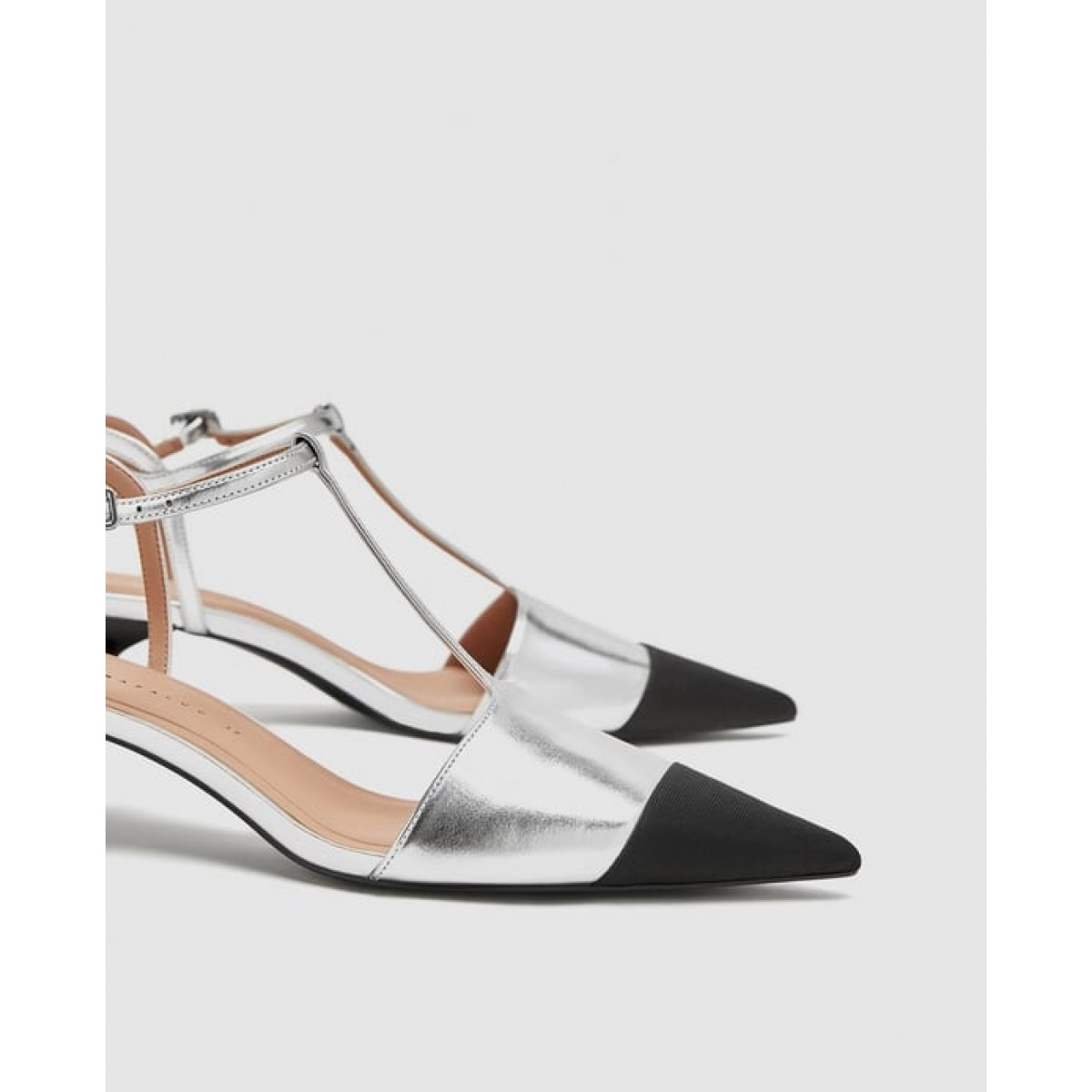 Zara T-Bar Court Shoes