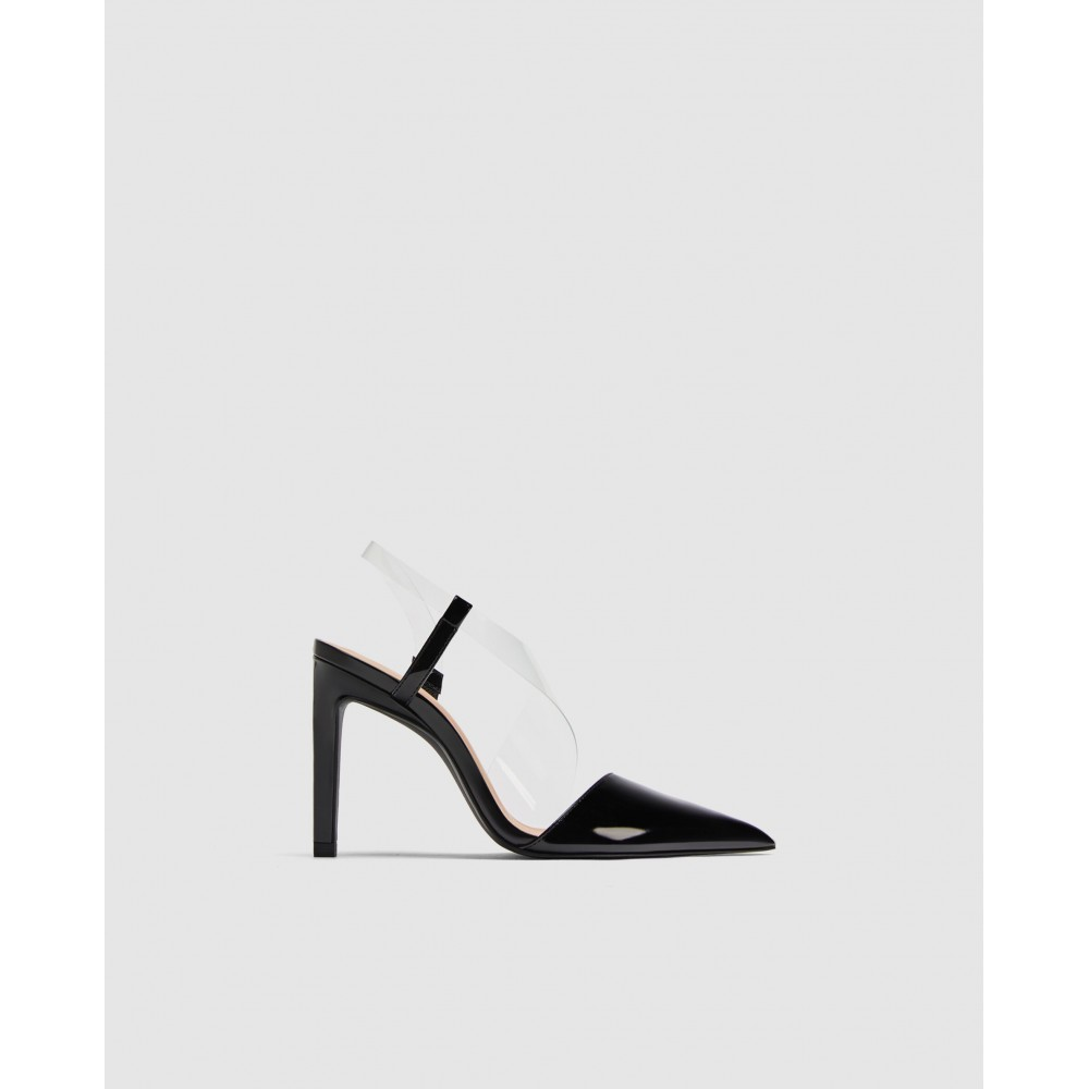 Zara Vinyl Asymmetric Court Shoes