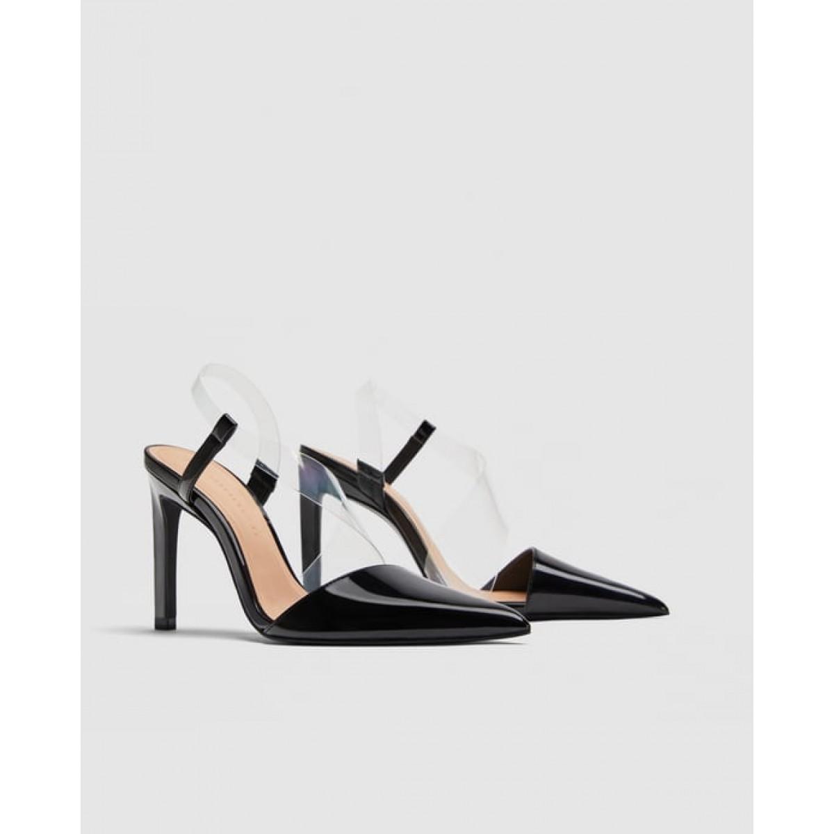 Zara Vinyl Asymmetric Court Shoes
