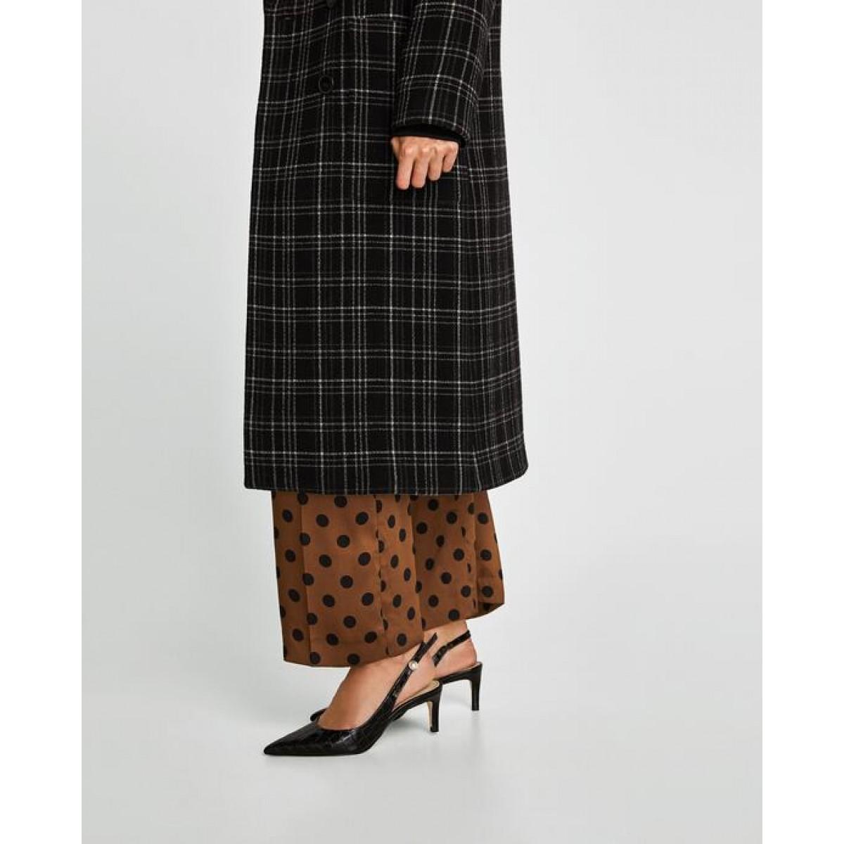 Zara Slingback Leather High Heel Court Shoes