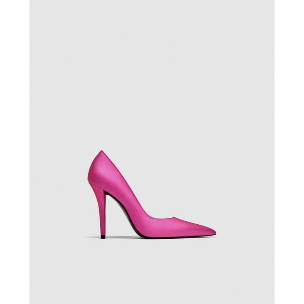 Zara Fuchsia High Heel Court Shoes