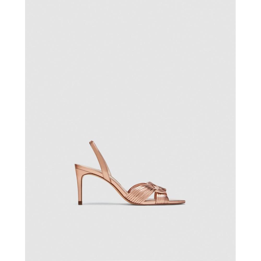 Zara Braided High Sandals